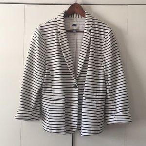 Old navy knit striped blazer